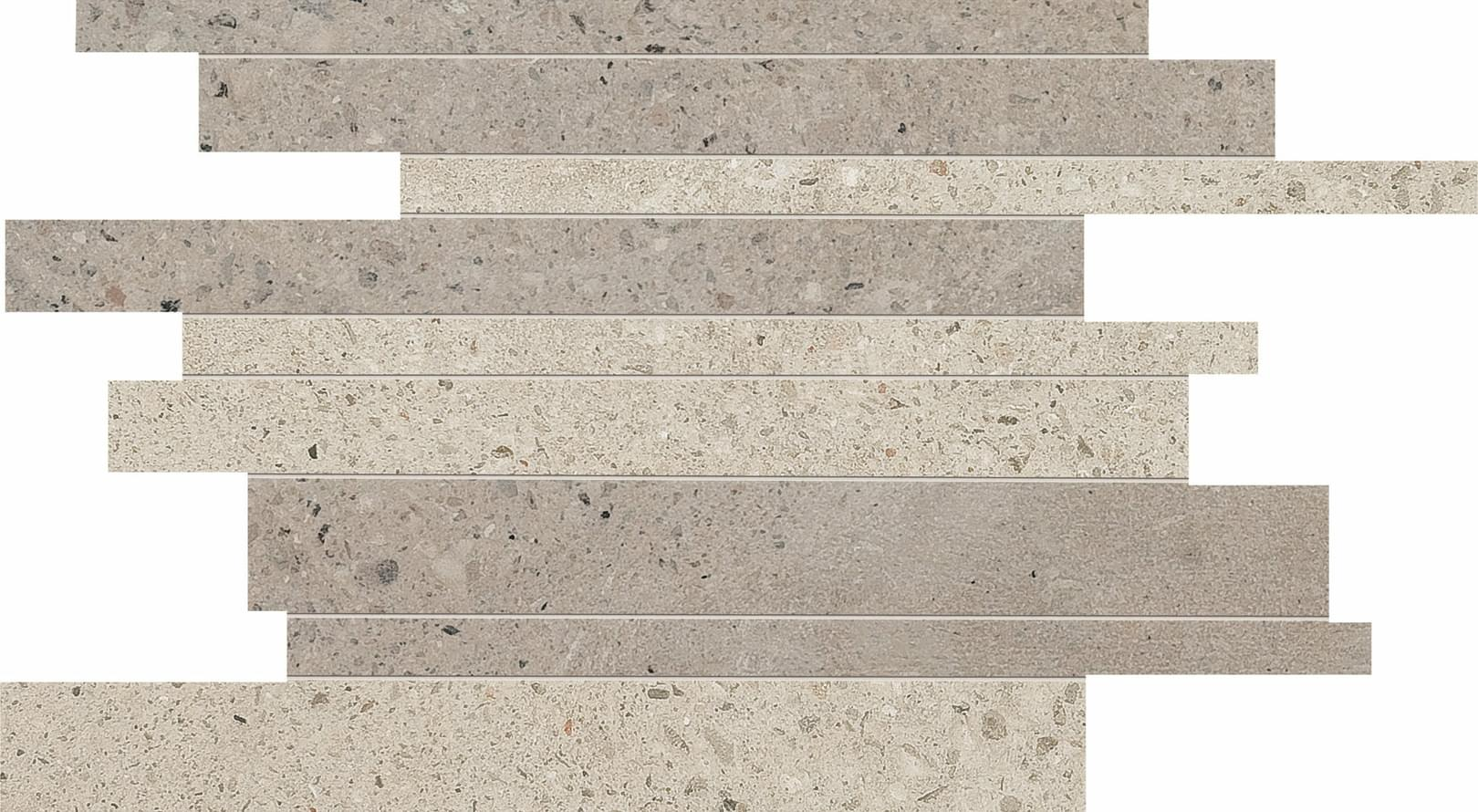 ABK Downtown Mosaico Brick Ecru-Earth Rett 30x40