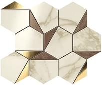 мозаика Gold Hex Brown Calacatta 25.1x29 см фабрики Atlas Concorde коллекция Marvel Edge