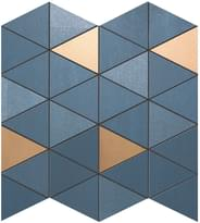 мозаика Blue Mosaico Diamond Gold Wall 30.5x30.5 см фабрики Atlas Concorde коллекция Mek