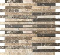 мозаика Strips Mix. Polished 30.5x30.5 см фабрики Colori Viva коллекция Emperador