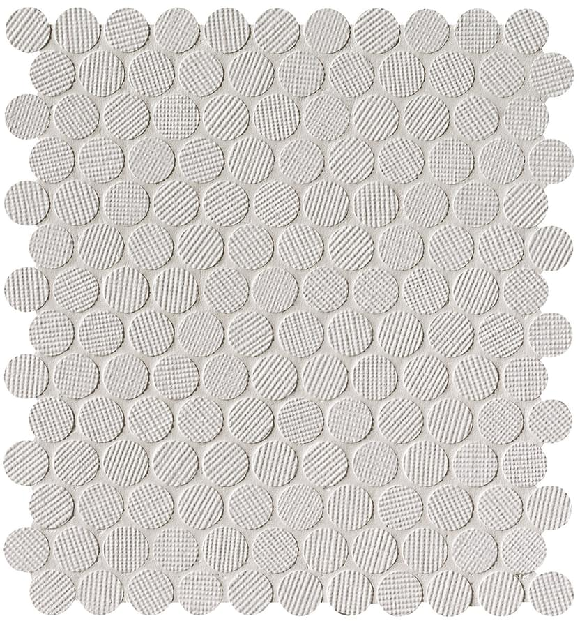 FAP MILANO AND WALL BIANCO ROUND MOSAIC Ø 2 29.5x32.5 керамическая плитка в Санкт-Петербурге
